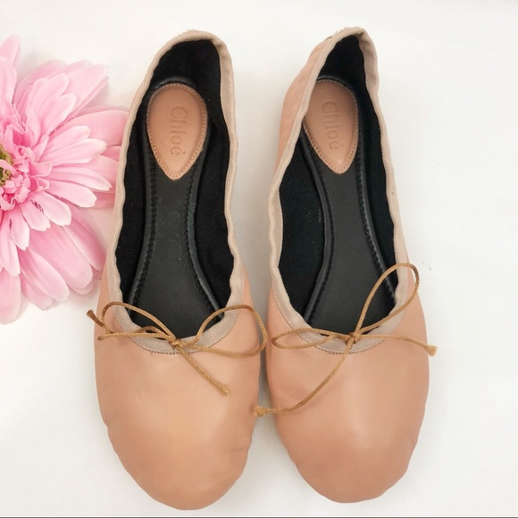 f3b6b1cd7 Chloe Shoes | Leather Ballerina Flats Ballet Blush Pink | Poshmark